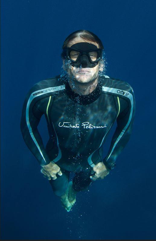 umberto Pelizzari Diver mask